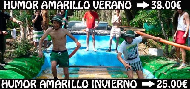 Humor Amarillo en Hostalric a 25 min de Lloret de Mar, ideal para despedidas de soltero y soltera, cumpleaños y grupos de empresa